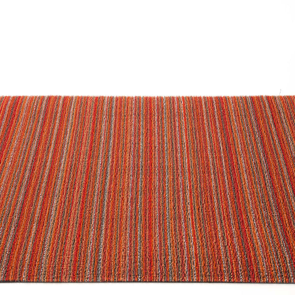 Chilewich Shag Rugs / Skinny Stripe Orange