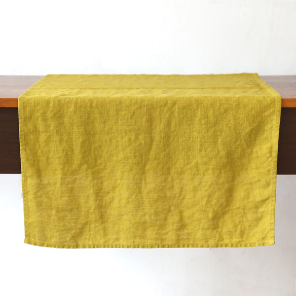 Terra Linen Table Runners /  Citrine