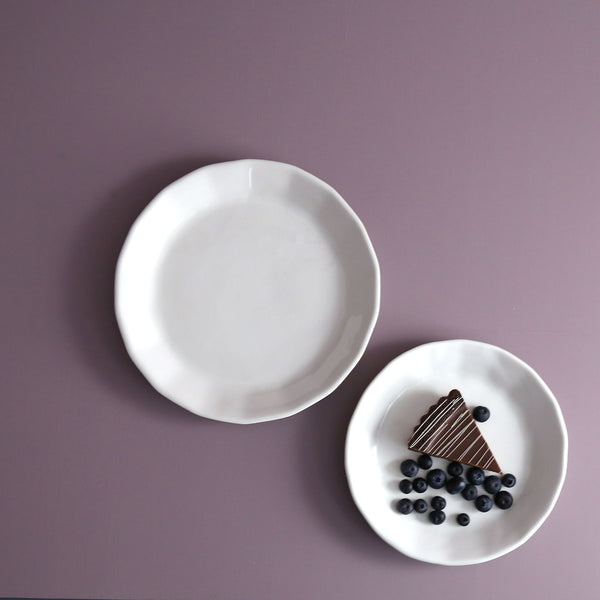 Convivial Riveted Handmade Ceramic Dinner Plates