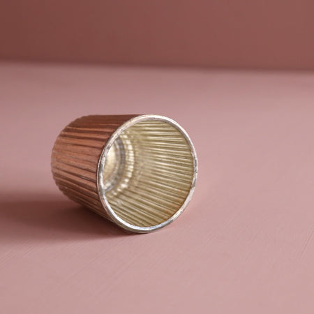 Metallic Glass Votives / Copper Ribbed
