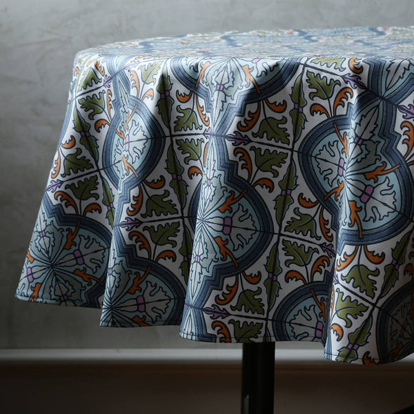 Laminated Cotton Round Tablecloth / Cypress