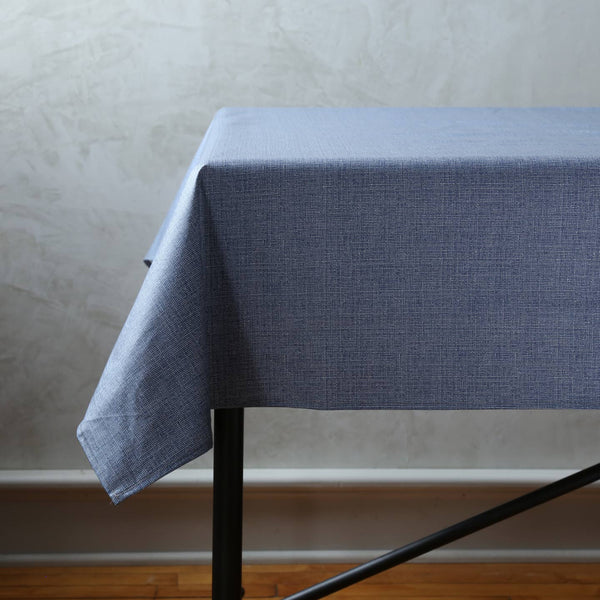 Laminated Cotton Rectangle Tablecloths / Denim