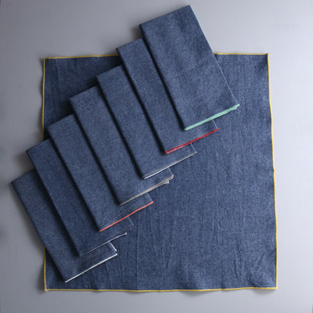 Denim Chambray Cotton Napkin Set