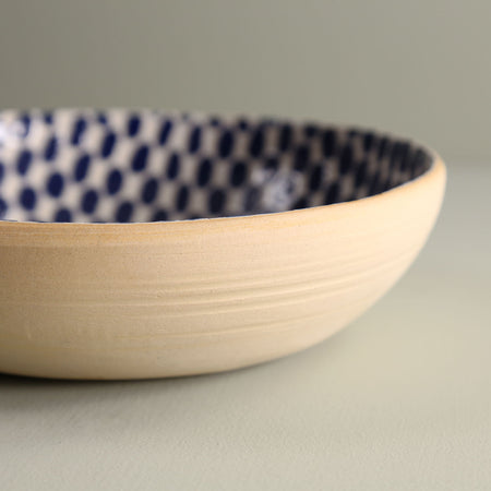Round Serving Bowl / Dot / Cobalt
