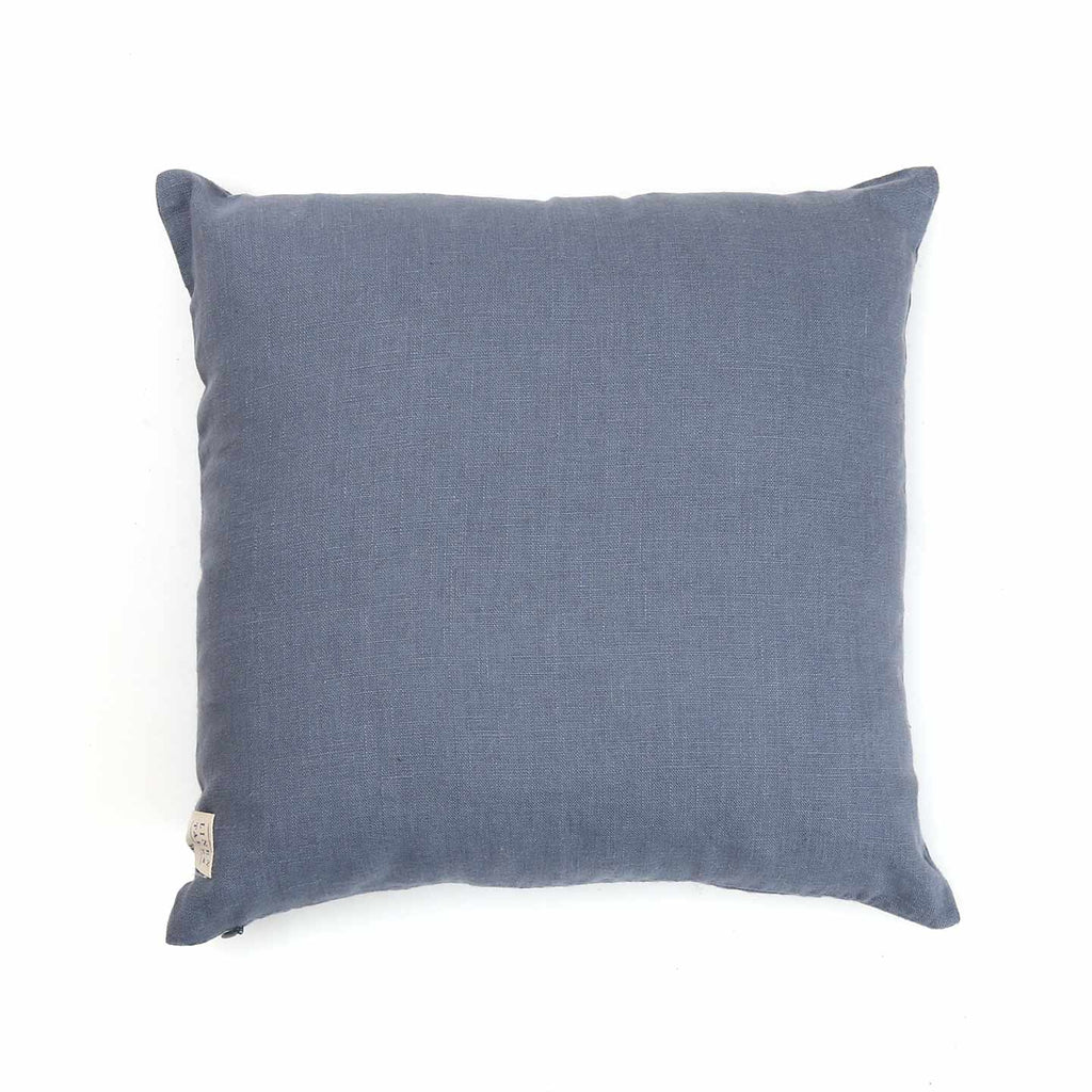 "Solid Color Linen 16"" Pillow / Fog"