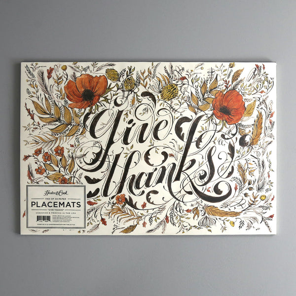Give Thanks Paper Placemat