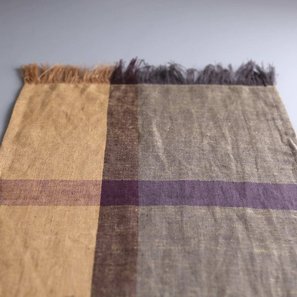 Hand Woven Linen Table Runner / Golden