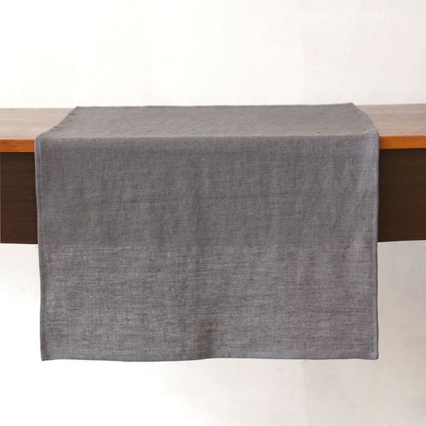 Terra Linen Table Runners / Graphite
