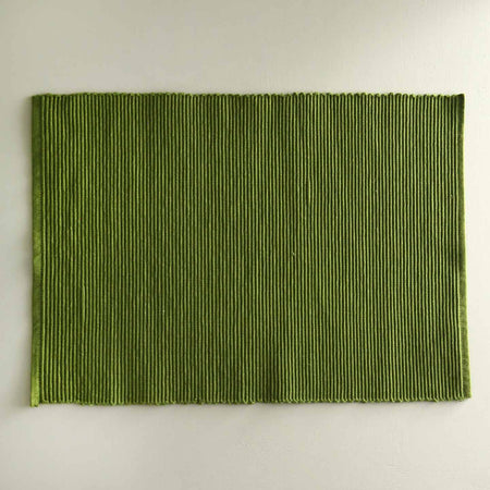 Cotton Spectrum Placemats / Fir Green
