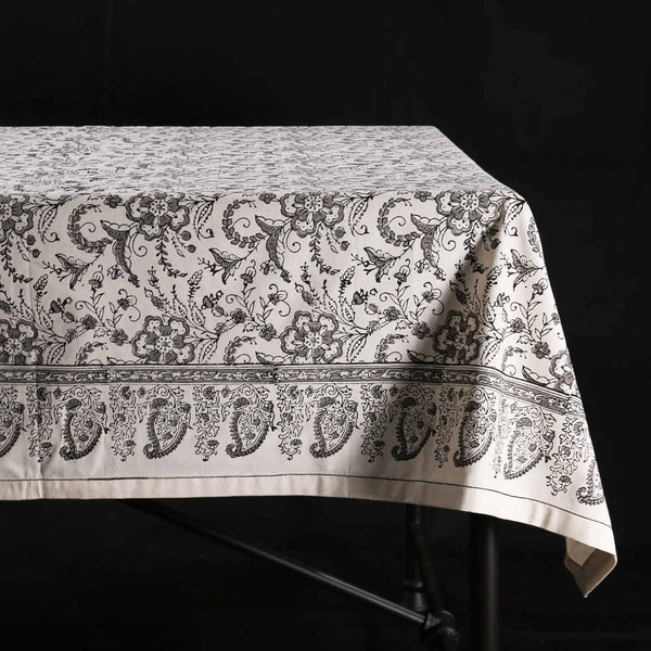 Block Print Tablecloth / Ivy Slate