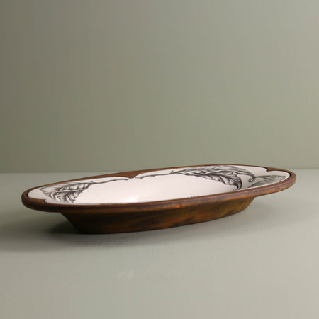 Handmade Oblong Serving Dish / Hedgehog #1