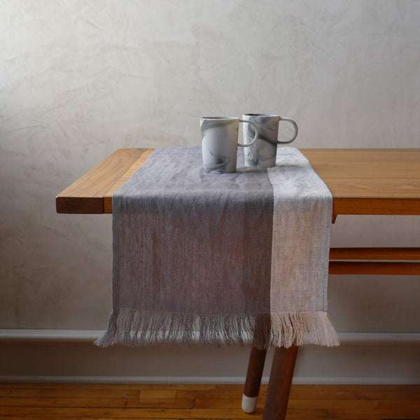 Hand Woven Linen Table Runner / High Tea