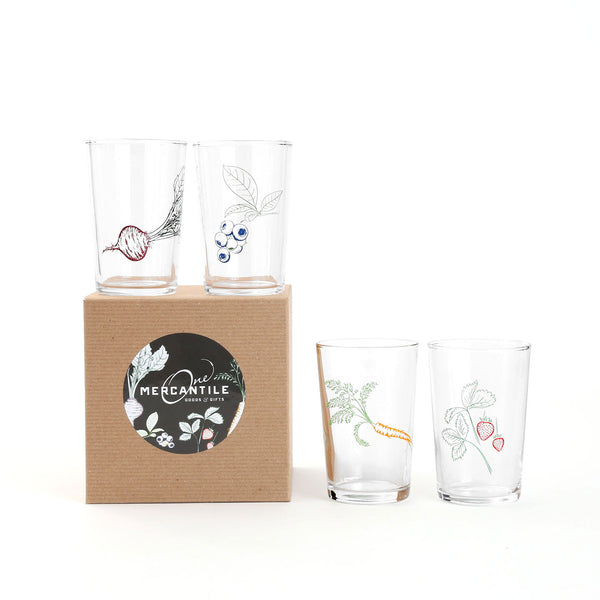 Illustrated Juice Glass