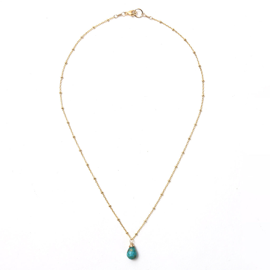 Turquoise on 14K Gold Fill Necklace / KB17