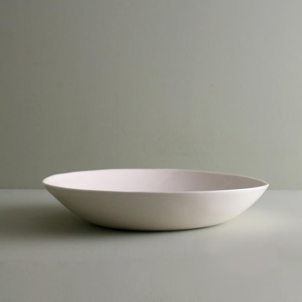Davistudio Small Low Serving Bowl / White