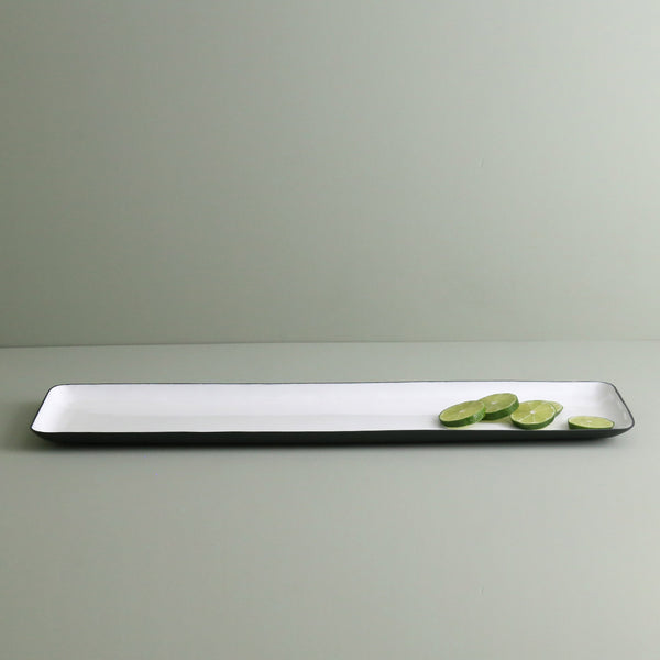 Enameled Steel Rectangle Serving Platter / Large