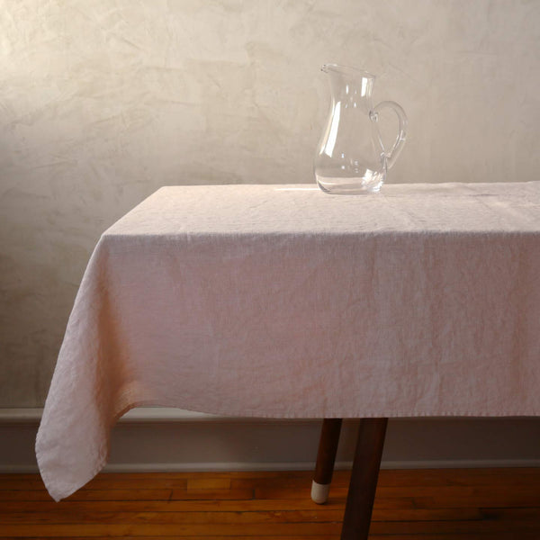 Terra Linen Rectangle Tablecloths / Latte