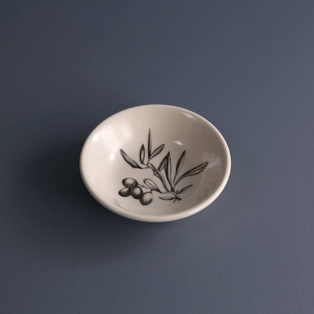 Hand Made Sauce Bowl / Olive Bunch