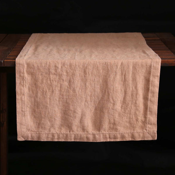 Nude Linen Table Runner
