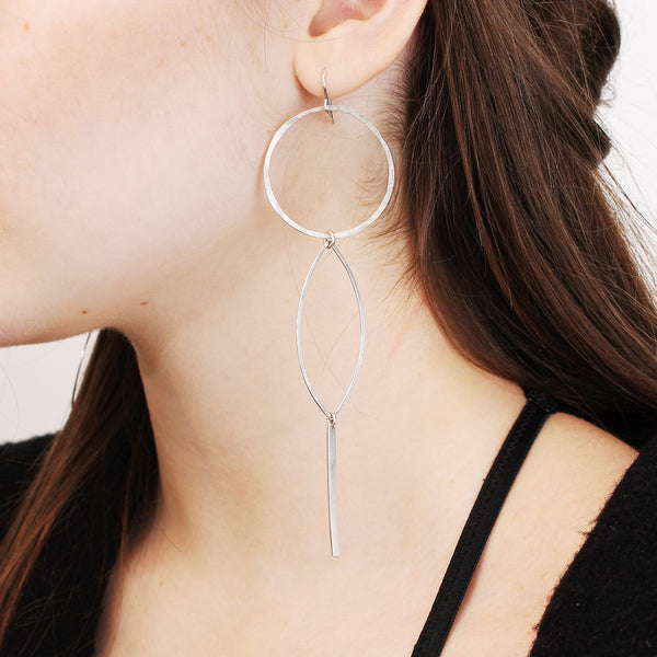 Hoop / Lotus / Twig Earrings