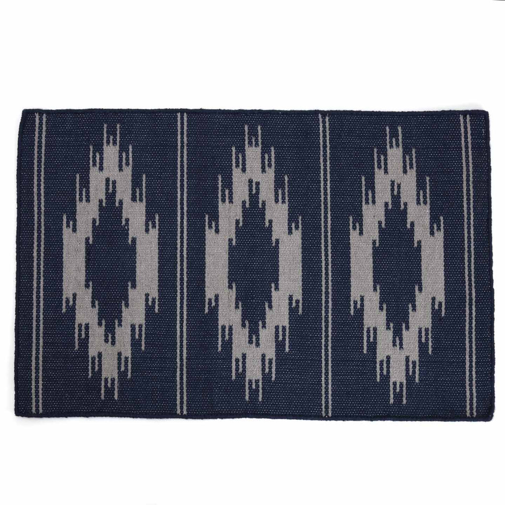 Recycled P.E.T. Rug / Madison Navy & Grey