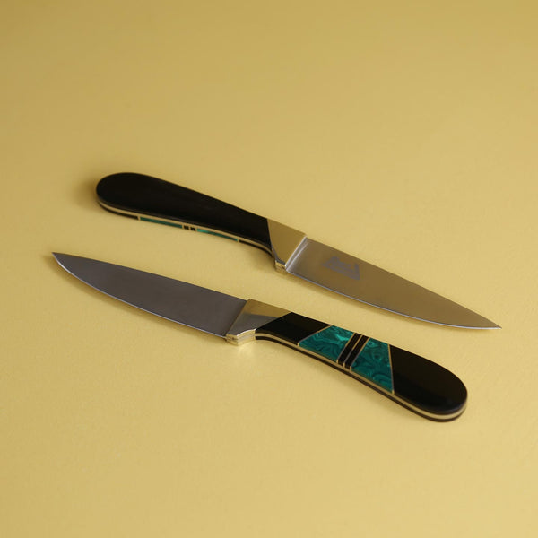 Malachite & Jet Steak Knife Set