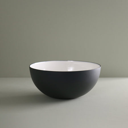 Enameled Steel Serving Bowl / Medium