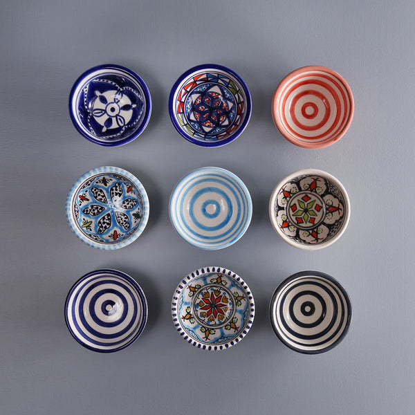 Hand-Painted Tiny Bowls / Assorted