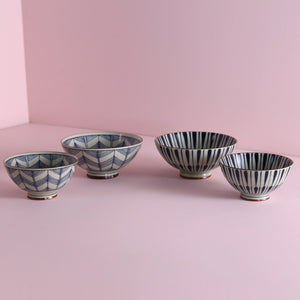Pattern Rice Bowls - Flower