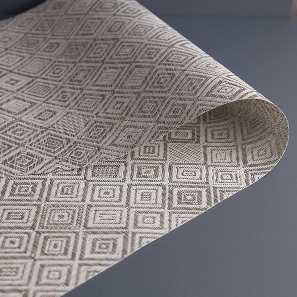 Chilewich Vinyl Table Runner / Grey Mosaic
