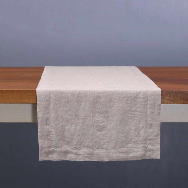 Stonewashed Linen Table Runners / Natural