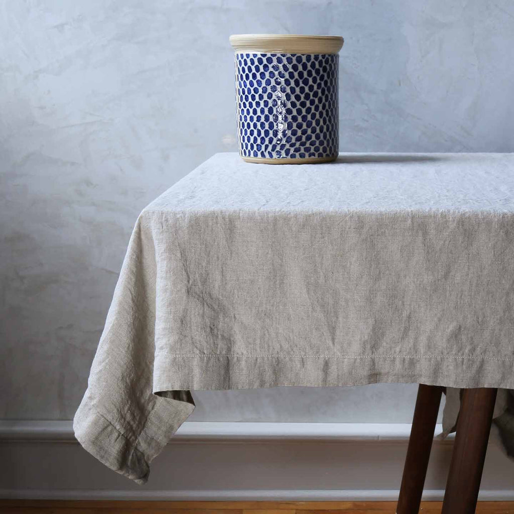 Stonewashed Linen Tablecloths / Natural
