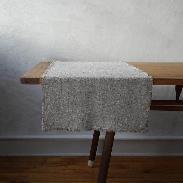 Rustic Linen Table Runners / Natural