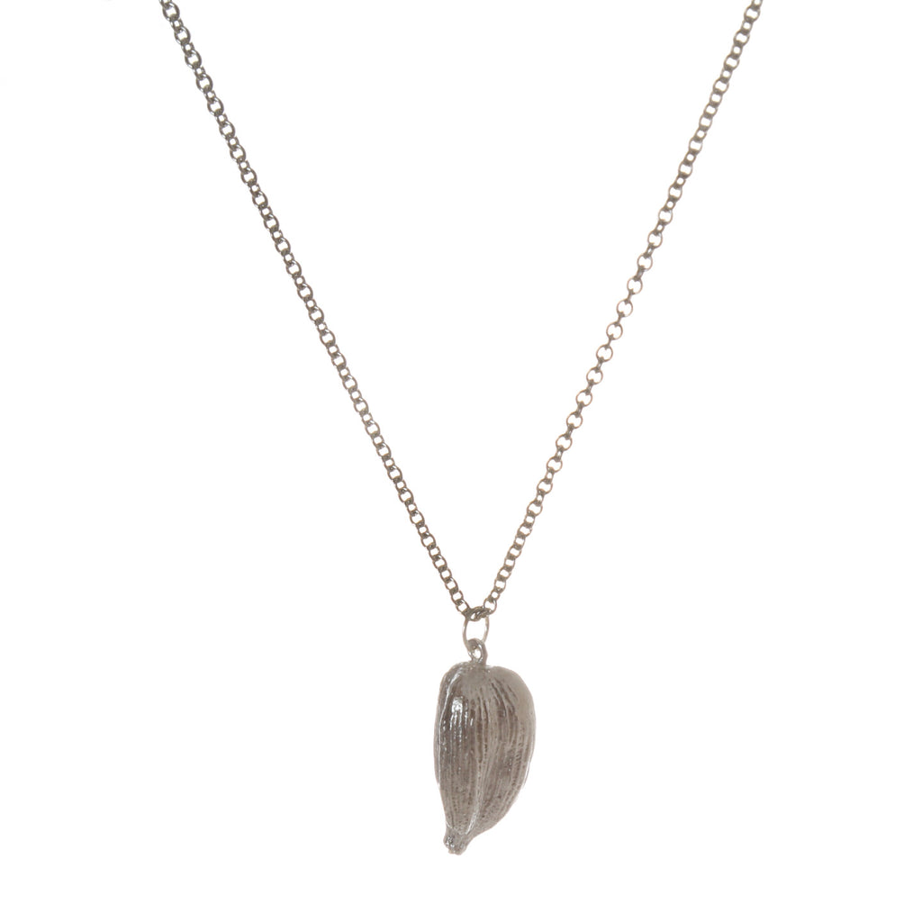 Cast Cardamom Pod Necklace / Sterling
