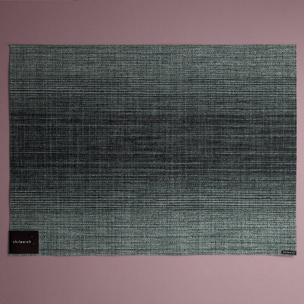 Chilewich Vinyl Placemats / Ombre Jade Rectangle
