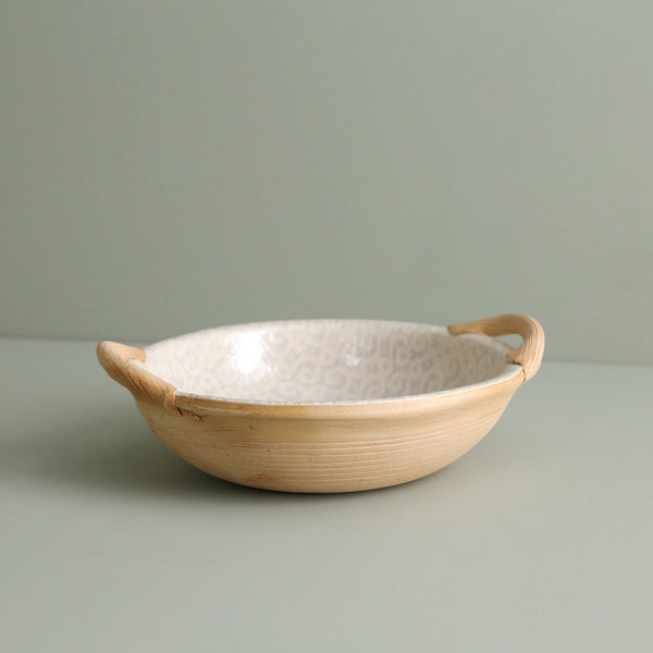Handled Round Veggie Bowl / Marrakesh / Opal