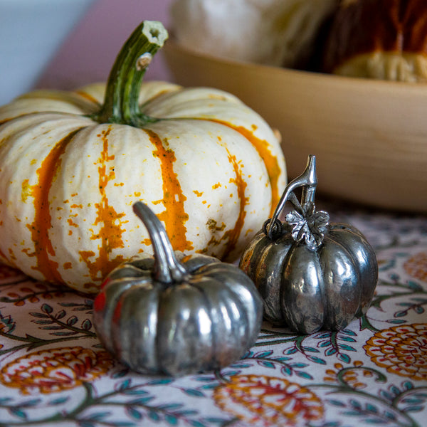 Pewter Salt & Pepper Shakers / Pumpkins