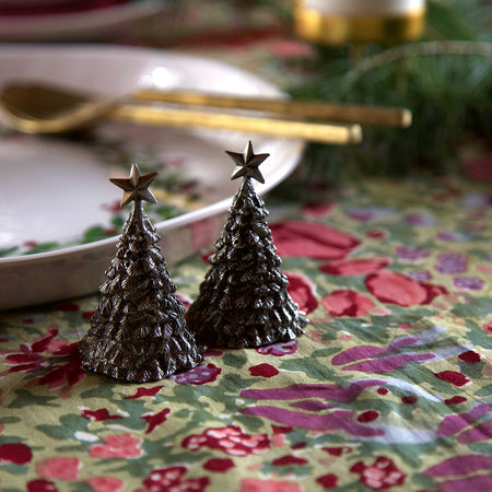 Pewter Salt & Pepper Shakers / Christmas Trees