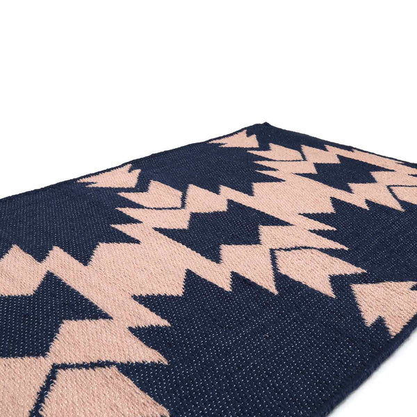Recycled P.E.T. Rug / Phoenix Navy & Blush