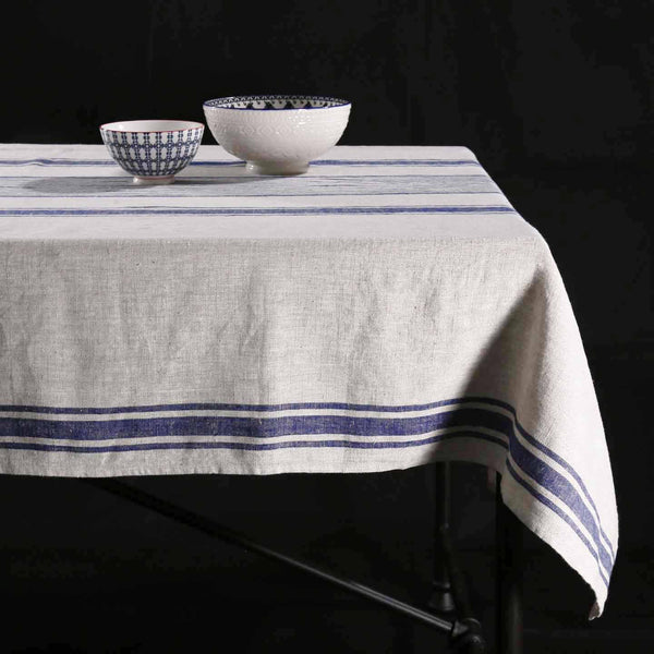Provence Indigo Linen Rectangle Tablecloths