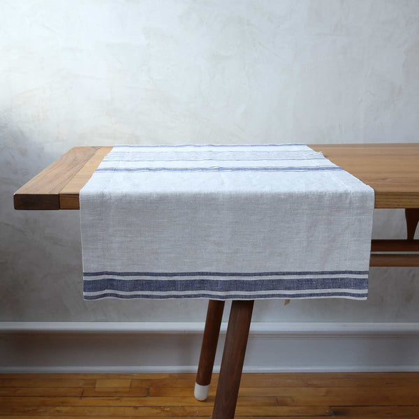 Provence Indigo Linen Table Runners
