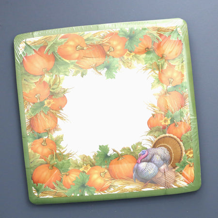 Caspari Paper Plates / Thanksgiving Harvest