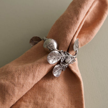 Pewter Napkin Rings / Radish / Pair