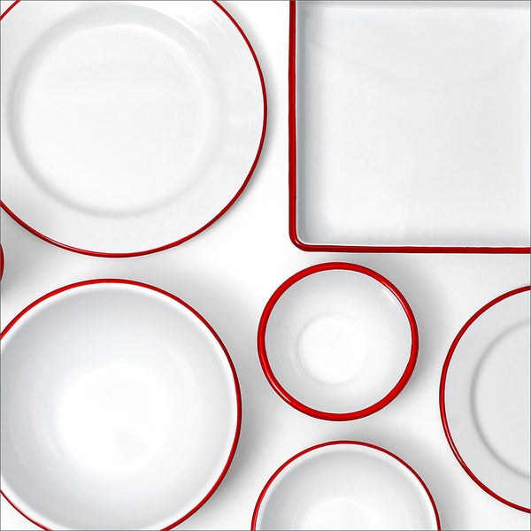 Enamelware / Red Rim