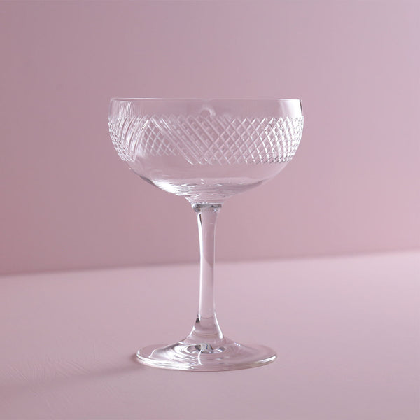 Bourbon Street Etched Martini Coupe