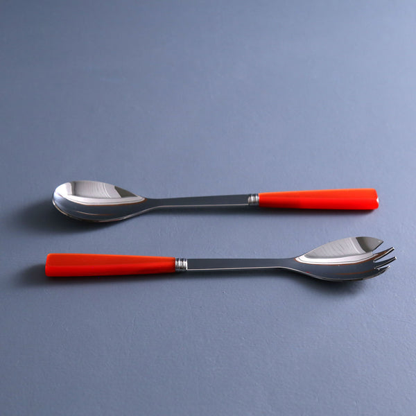 Natura Orange Salad Server Set