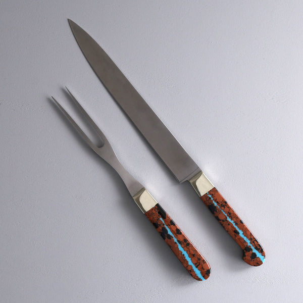 Vein Turquoise Carving Set