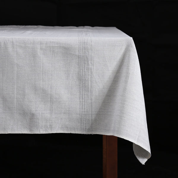 Hand Woven Heavyweight Cotton Table Cloth / Sea Salt