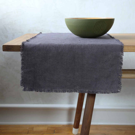 Rustic Linen Table Runners / 12' Grey