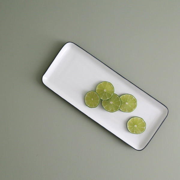 Enameled Steel Rectangle Serving Platter / Small